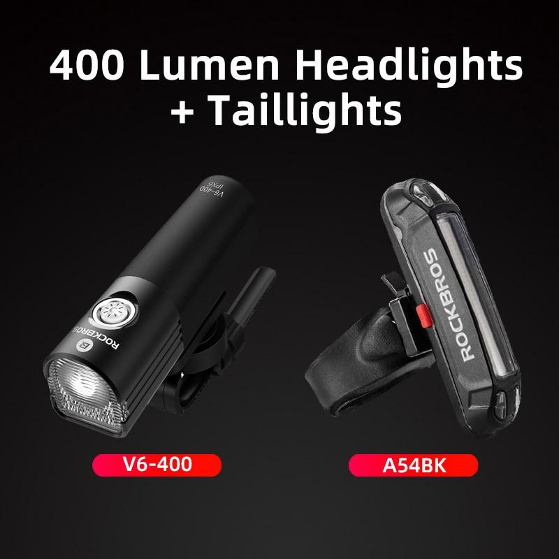 Bike Light USB Rechargeable 400 Lumens Bicycle Lamp Front Headlight Flashlight